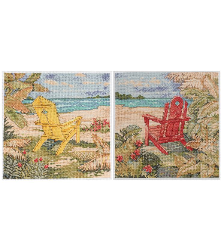 Bucilla Beach Chair Duo Counted Cross Stitch Kit at Joann.com