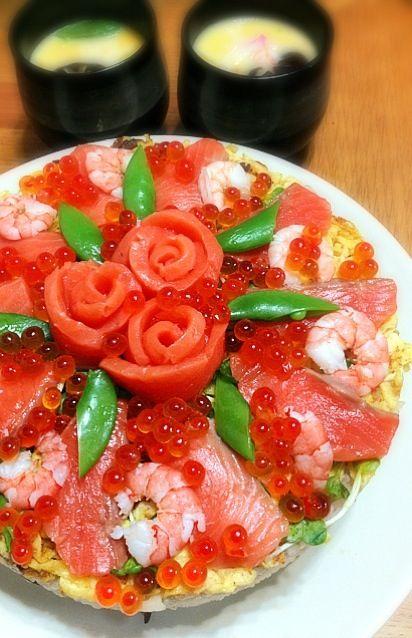 Doll's festival aaa ♡ - 210 mushrooms - chirashi sushi cake by JURI - ひな祭りだあああ♡ - 210件のもぐもぐ - ちらし寿司ケーキ by JURI