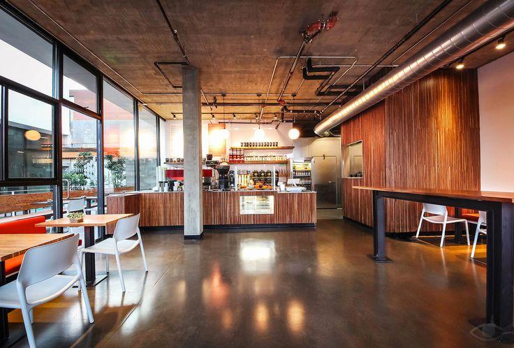cafe location in san diego california boasting custom dining tables