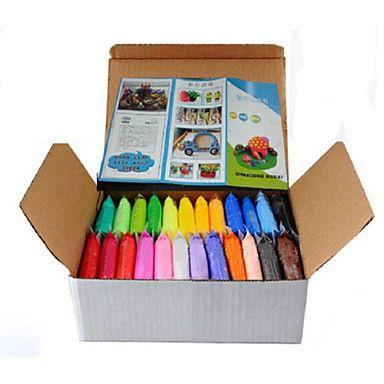 24+pcs+/+set+bricolage+warna-Warni+konyol+dempul+plastisin+anak+untuk+fimo+polimer+Tanah+Liat+–+EUR+€+12.73