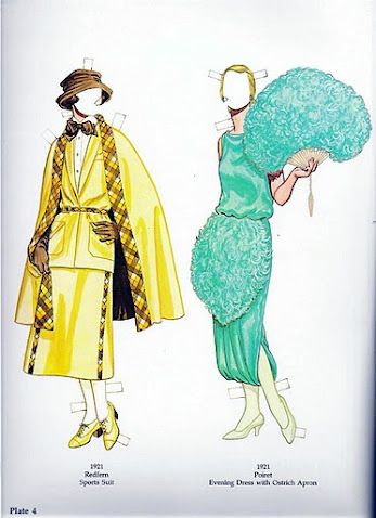 Great Fashion Designs of the Twenties | Gabi's Paper Dolls  Another awesome fan