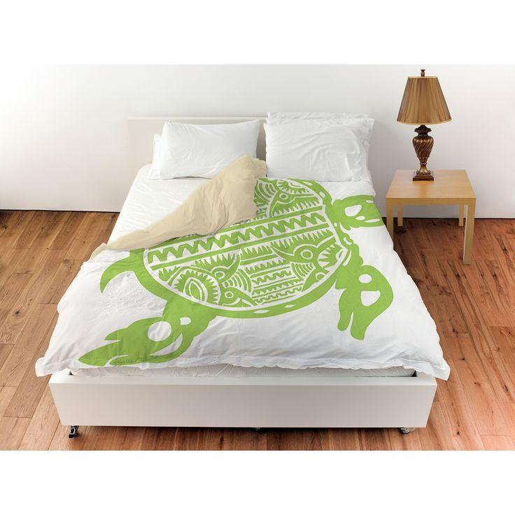 Thumbprintz Honu Turtle Green Duvet Cover