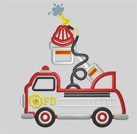 Fire Truck Applique Design