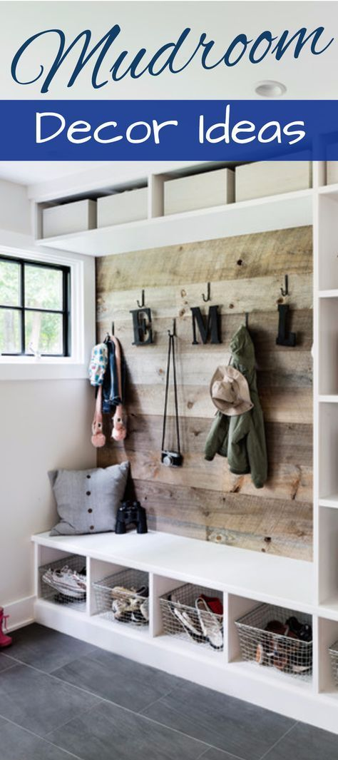 DIY Mudroom Decorating and Design ideas – great id…