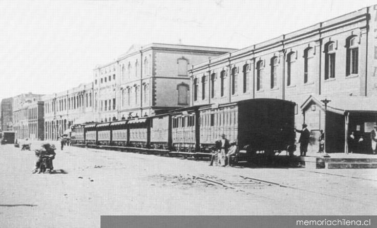 Ferrocarril de Valparaiso hacia 1870