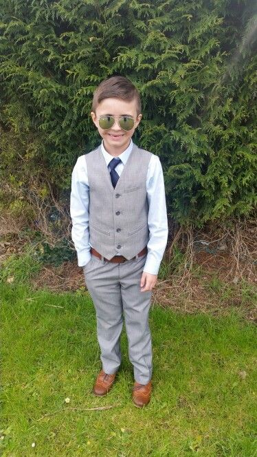 Smart formal boys 2 piece outfit. Tan accessories shoes/belt  Next outfit