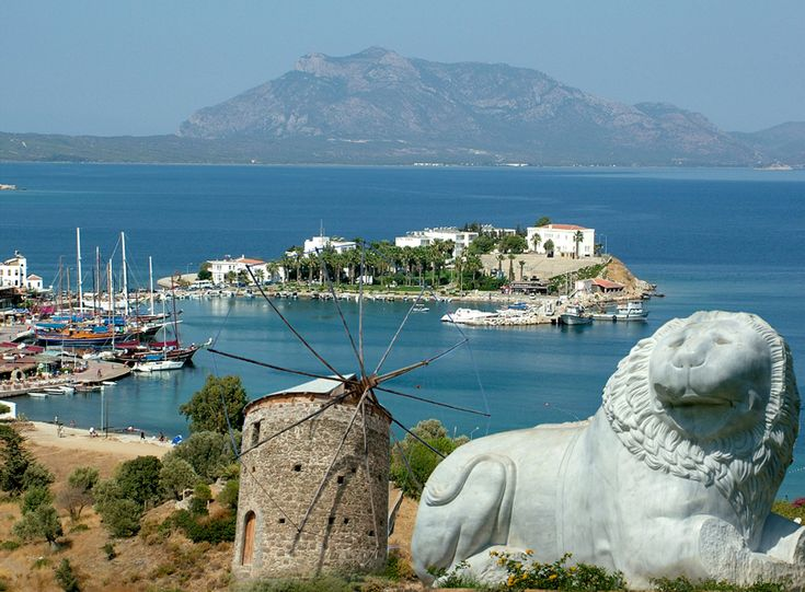 The town of Datca overlooking the bay