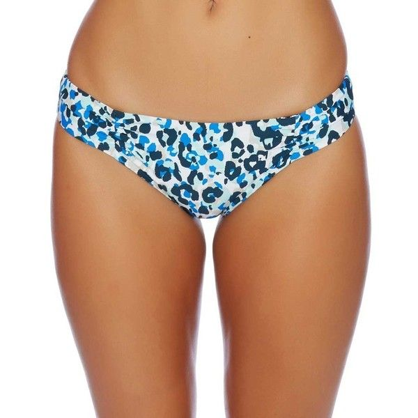 Splendid Tropic Spots Reversible Retro Bottom ($41) ❤ liked on Polyvore featuring swimwear, bikinis, bikini bottoms, print bikini, swim bikini bottoms, animal print bikini, scrunch bikini bottoms and blue bikini bottoms