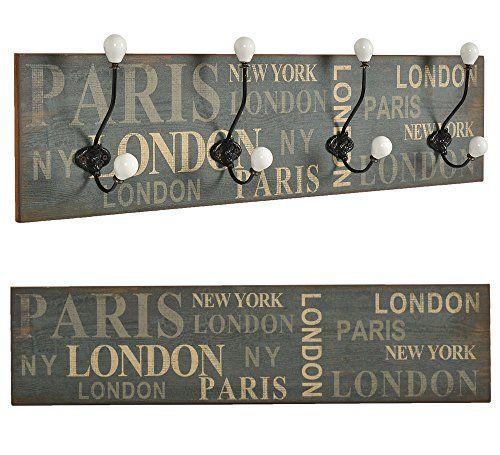 "ts-ideen Perchero de pared o de pasillo ""London"" madera franja de ganchos 20 x 80 cm Shabby ts-ideen http://www.amazon.es/dp/B01AO0I8EK/ref=cm_sw_r_pi_dp_-3b3wb0TQFNP1"