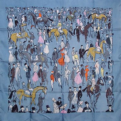 luxury-scarves.com 'Paddock', Jean-Louis Clerc.