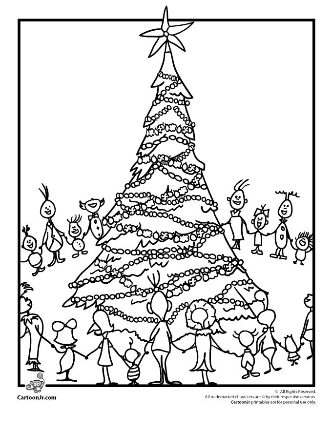 The Grinch Who Stole Christmas Coloring Pages Grinchs Whoville Page Cartoon Jr