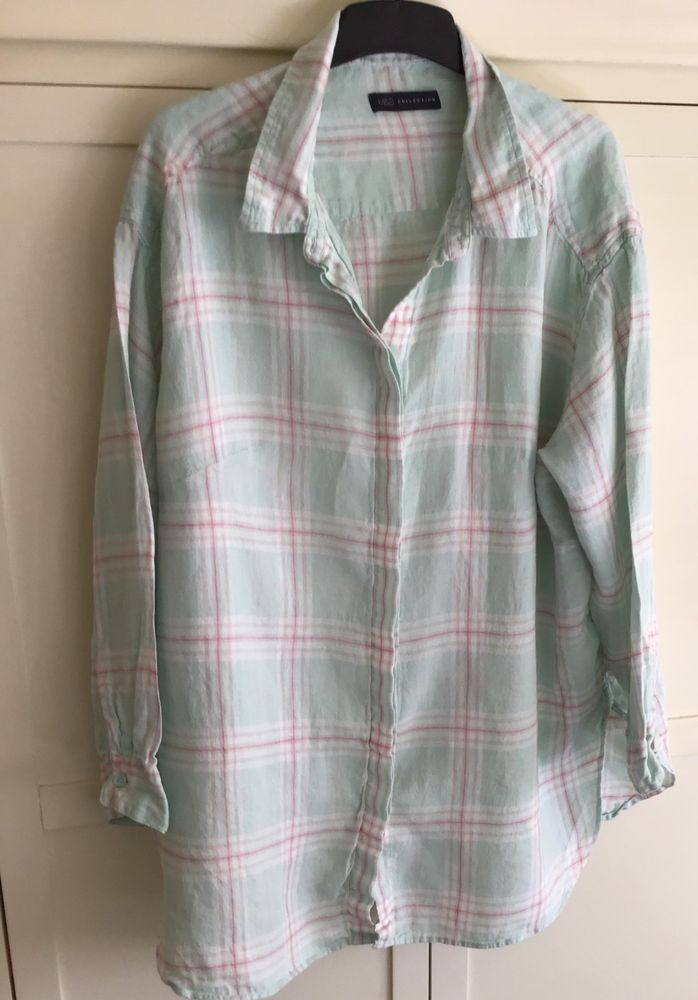 Marks   Spencers Collection Womens Beautiful Check Shirt   Top Size 20   fashion  clothing  shoes  accessories  womensclothing  tops (ebay link) f7dbc906a
