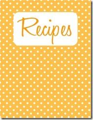 Recipe Binder - free printables from Believing Boldly