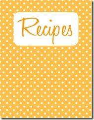 recipe book cover template
