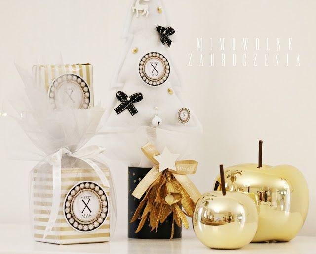 Mimowolne Zauroczenia, Boże Narodzenie, XMAS, Christmas, prezenty  choinka z filcu