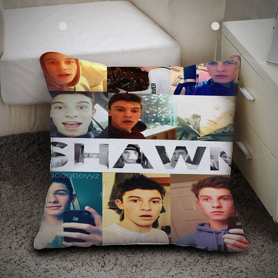 Shawn Mendes collage - Pillow Case Polyester 16x16 and 18x18 one side / two sides by WANIKLIMIS