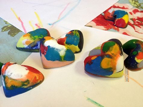 Recycle Your Old Broken Crayons To New Colourfull Heart
