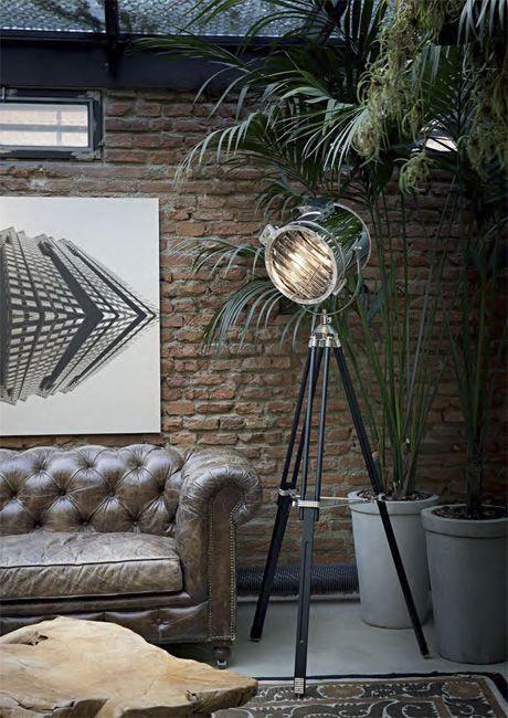 Lampa podłogowa Kraken - styl loft. Producent: Ideal Lux