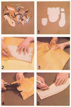 Diseño y construcción de un mocasín indio de cuero : Artesanias de Cuero