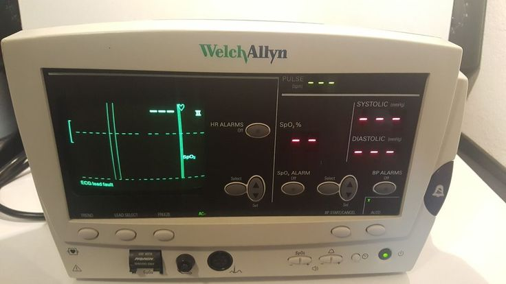 Welch Allyn 62000 Patent Monitor no Leeds comes with power supply TESTED #WelchAllyn