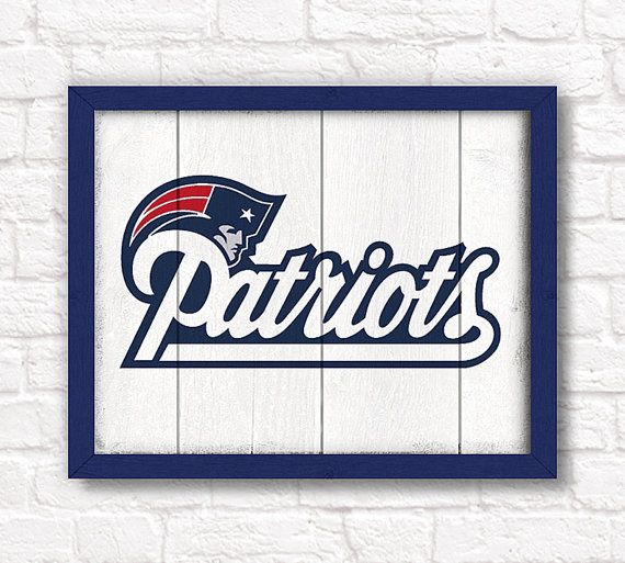 New England Patriots rustic wall hanging 16x20 by thePaintedLlama, $55.00