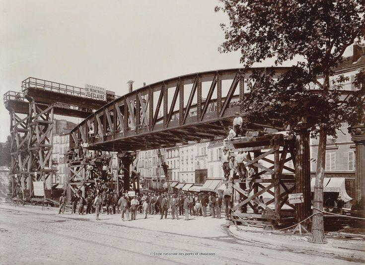 Boulevard de la Chapelle, au débouché de la rue de Maubeuge, première travée du…