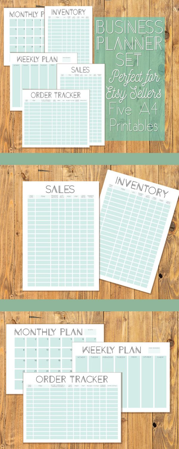 geometric store business organisation a4 printables 5 sections for
