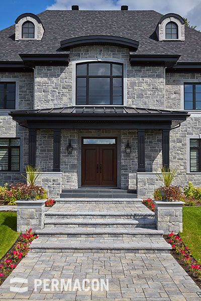 Newport Grey Lafitt Stone By Permacon House Design