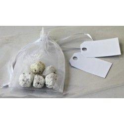 Bombe seminabili in sacchetto di organza #seed paper #ecowedding