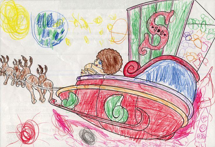 園児部門 第3位 インドネシアスラバヤ日本人学校幼児部(http://sjs1979.com) 菜々花さん5才 タイトル「プレゼントいっぱい」★菜々花ちゃんの描いてくれた神秘の世界にスタッフ一同とっても癒されました。ニコニコ笑顔の第3位です♪