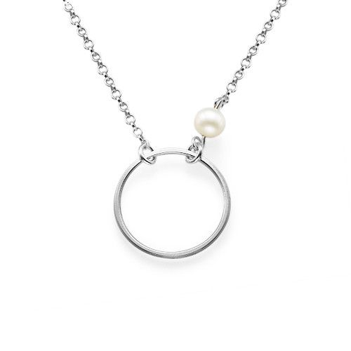 Karma Necklace in Sterling Silver | MyNameNecklace