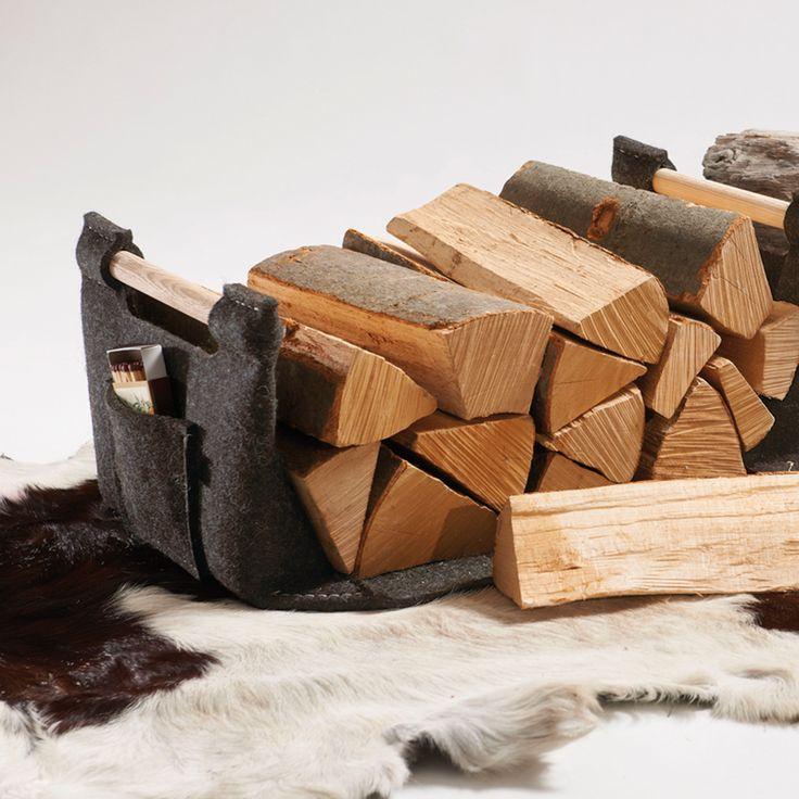 super praktischer Holzkorb mit echten Holzgriffen.