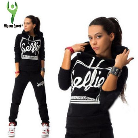 """Selfie"" Hoody Tracksuit Set (3 colours)"