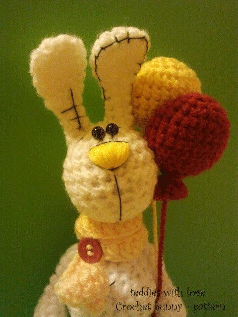 crochet bunny  pattern PDF document by teddieswithlove on Etsy, zł15.00