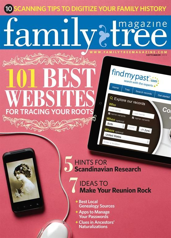 Family Tree Magazine - free to borrow from the 2nd Floor at the Rotorua District Library. And sign up to get updates from the Family Tree Magazine website!