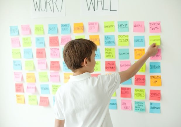 A worry wall lets kids get rid of the worries in their heads, replacing them with positive thoughts on an optimism wall. By family therapist, and The Sun's Parent Traps columnist, Michele Kambolis.
