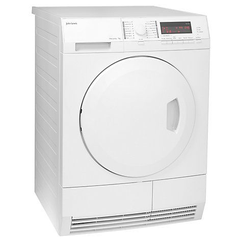 Buy John Lewis JLTDH18 Heat Pump Condenser Tumble Dryer, 7kg Load, A+ Energy Rating, White Online at johnlewis.com