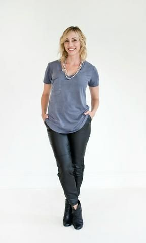 The Suede Pocket Tee