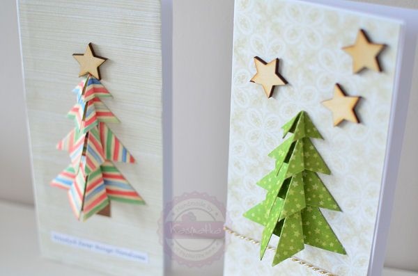 origami tree cards