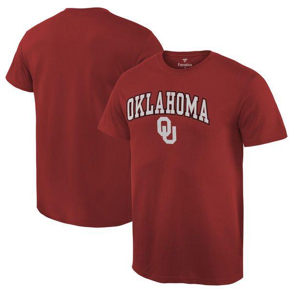 Oklahoma Sooners Fanatics Branded Campus T-Shirt - Crimson - $14.99