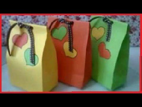 Cara Membuat Tas Kertas Bungkus Hadiah Imut - YouTube