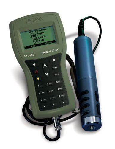Hanna Instruments HI 9828/4 Multiparameter Water Quality Portable Meter, with 4m Cable, 115VDC | $2,037.66
