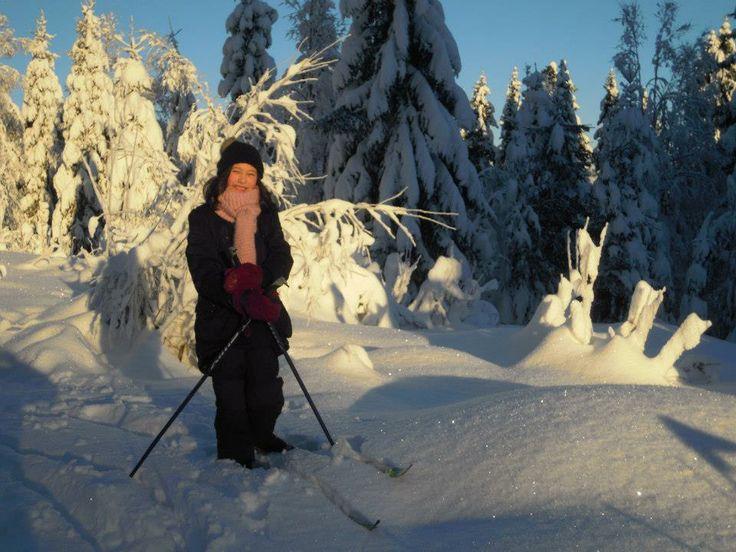 Sara. Ski trip Oslo forest. 2012