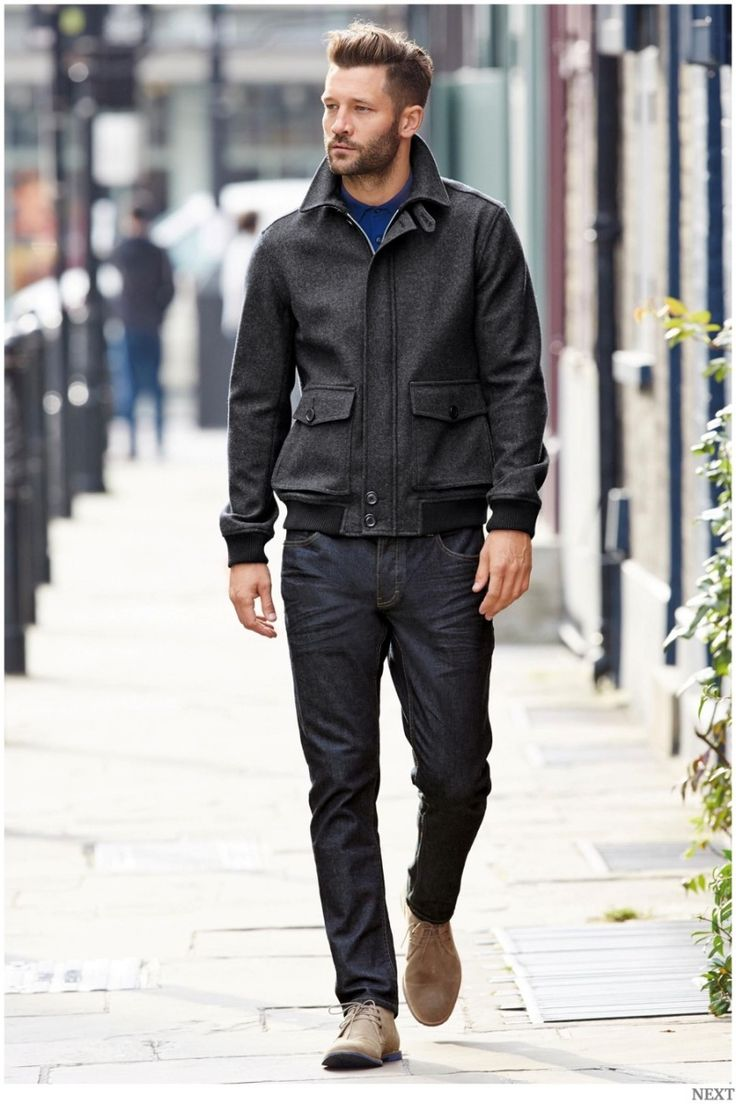 Mens quilted jacket next - Back To Basics John Halls Models Next Outerwear Pullovers