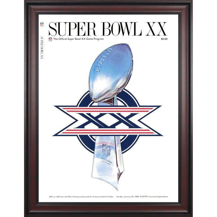 "Fanatics Authentic 1986 Bears vs. Patriots Framed 36"" x 48"" Canvas Super Bowl XX Program - $239.99"