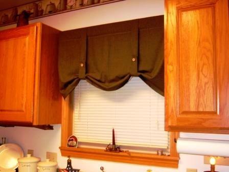 Button Up Curtain Valance Curtain Ideas Pinterest