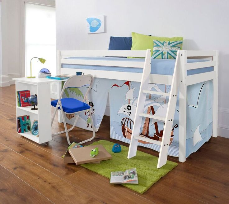 Pirate Pete Cabin Bed with Desk and Tent | £179.99 | #CabinBed #KidsBed #HomeDecor
