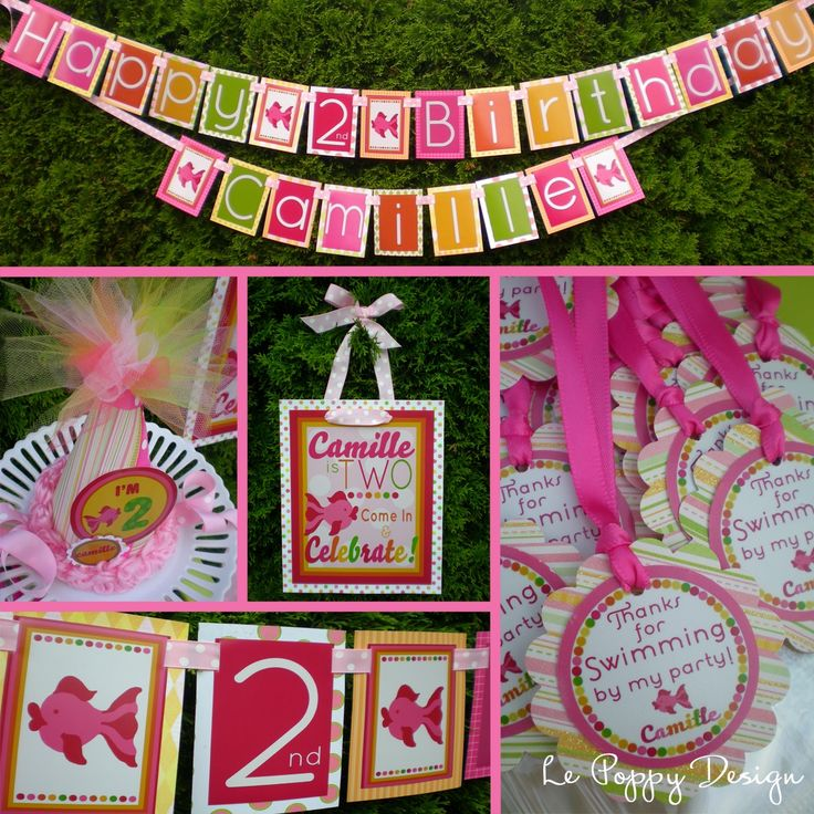 fish birthday party | Girlie Fish Birthday Party Decorations Package - Swim On Over