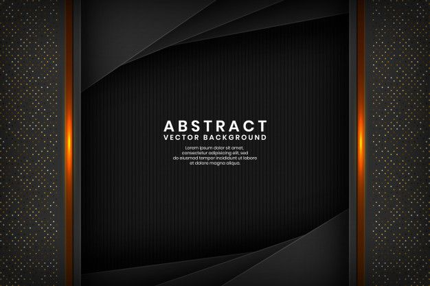 Modern Black Abstract Background Overlap Layer On Dark Space With