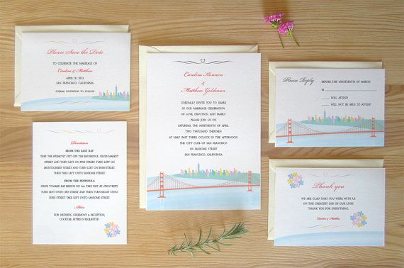 San Francisco Wedding Invitation Package FREE by TomokoMaruyama, $286.00